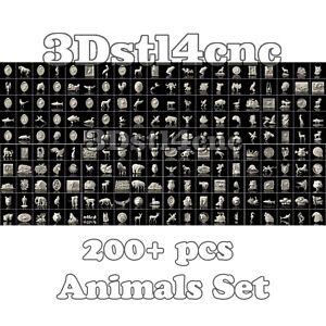 200-3D-STL-Models-Animals-Set-for-CNC-Router-Carving-Machine-Artcam-aspire