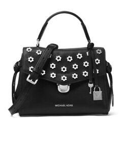 f0257d372 Michael Kors Bag Bristol Top Handle Satchel Crossbody Black NEW $328 ...
