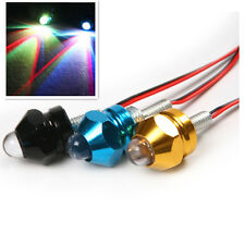 2pc Motorcycle Turn Signal Indicator License Plate LED Colorful Bulb Bolt Light