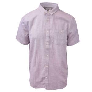 Quiksilver-Men-039-s-Purple-Waterfall-S-S-Woven-Shirt-Retail-55