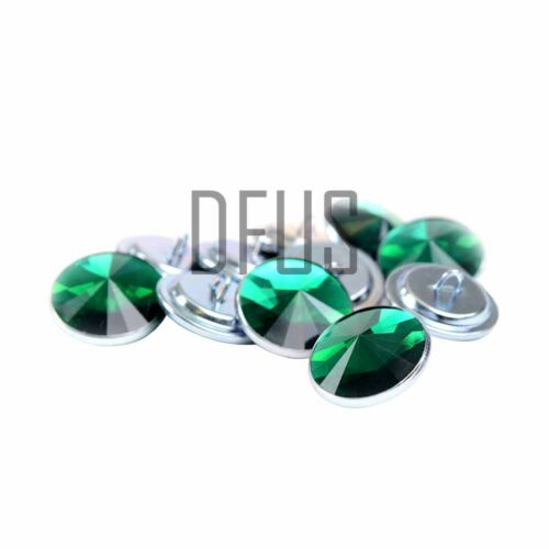 Green Diamante crystal upholstery buttons 20mm loop back Headboards Sofa Chair