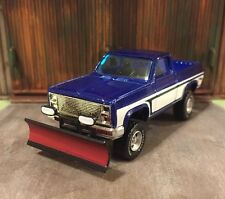 1983 Chevy K10 Lifted 4x4 Snow Plow Truck Custom 1:64 Diecast Farm Diorama