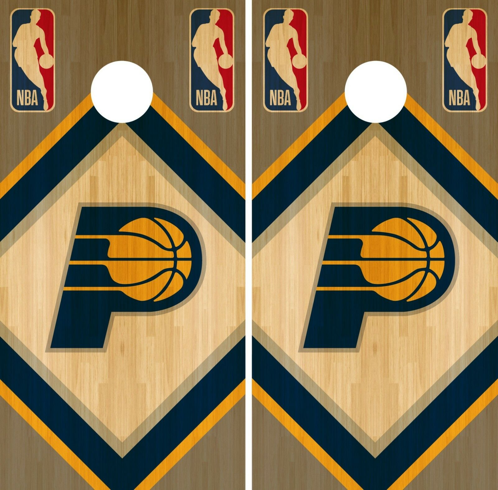 Indiana Pacers Cornhole Wrap NBA Wood Game Board Skin Set Vinyl Decal CO618
