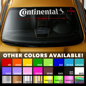 CONTINENTAL TIRE TYRE Premium Windshield Banner Vinyl Decal Sticker 33x6""