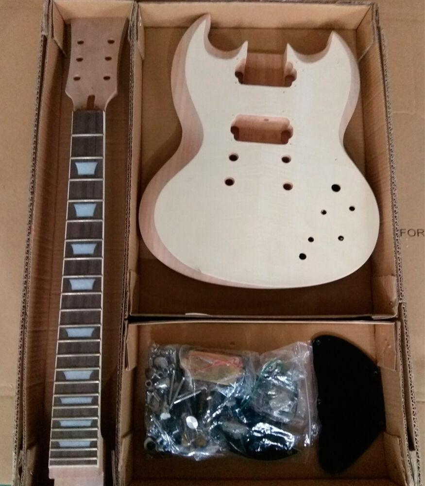 GDSG590 DIY BYO Electric Guitar Kit Set in Mahogany Body Veneer EXTRA SET STRING