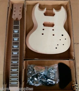 DIY-Electric-SG-Guitar-Kit-24-75-034-22-Fret-2V-2T-Set-in-Solid-Mahogany-Body-S2