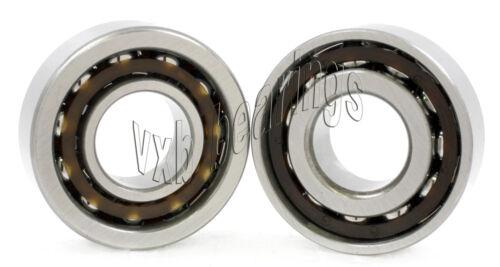 2 7206B 30x62x16 Angular Contact 30mm//62mm//16mm Ball Screw Spindle Ball Bearings
