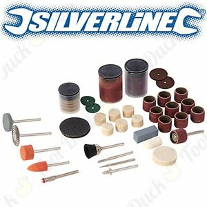 105Pc-SILVERLINE-ROTARY-TOOL-STARTER-KIT-Dremel-Multi-Tool-Accessories-Bit-Set