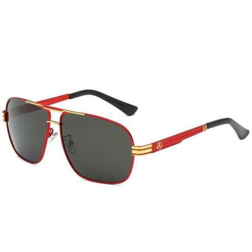 High Quality Men/'s Brand Polarized AMG Sunglasses Gafas UV400 With Original Box