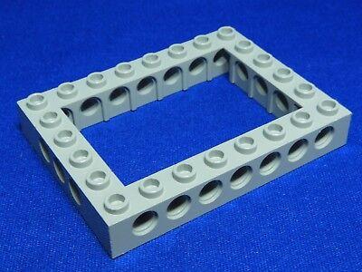 40345 LEGO 6x8 Technic Brick Open Center LIGHT BLUISH STONE GRAY P//N