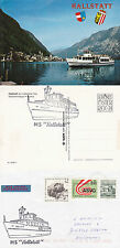 AUSTRIA RIVER CRUISE SHIP MS HALLSTATT A SHIPS CACHED COVER & CACHED POSTCARD