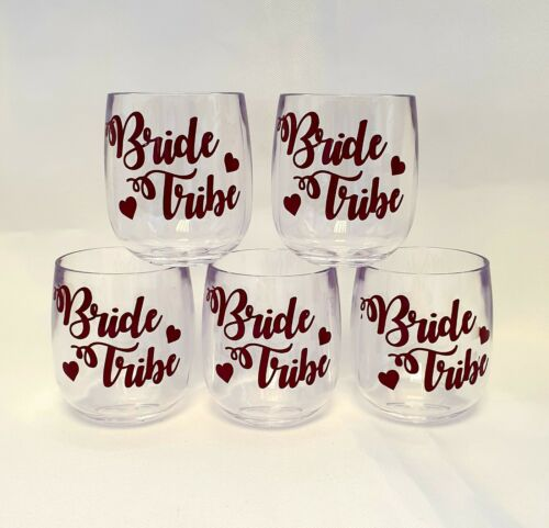 Hen Night Accessories Bride Tribe Shot Glasses Stag Do Party Favours x 5