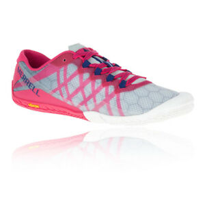 Merrell-Vapour-Glove-3-Womens-Grey-Red-Running-Sports-Shoes-Trainers-Pumps