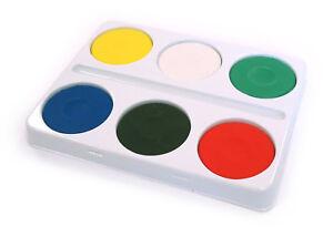 6 Grande Acquerello Blocchi & Plastica Palette Con Porta Pennelli Bambini