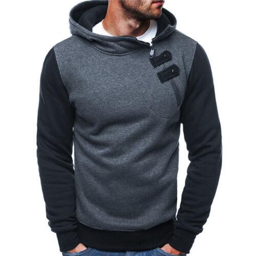 Men/'s Hoodie Hooded Thick Winter Pullover Outwear Sweatshirt Coat Jacket Sweater
