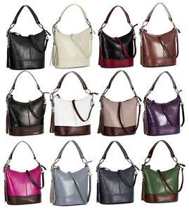 861c52f7c7 Image is loading LiaTalia-Italian-Leather-Top-Handle-Medium-Satchel-Bucket-