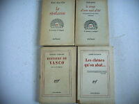 lot 4 livres littérature NRF Malraux Clot Shakespeare Schehadé