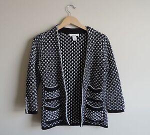 Women-039-s-White-House-Black-Market-Cardigan-Sweater-Size-XS