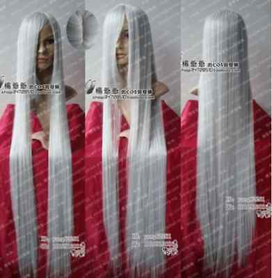 A-0148 New long Silver White Cosplay Party Wig 100cm+999