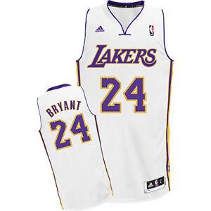 Los Angeles Lakers 24 Kobe Bryant White Alternate Size Medium M ... c6cdadef0