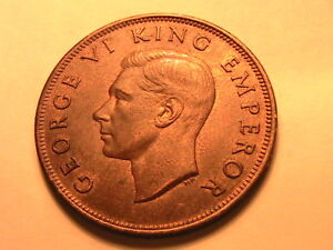 1941-NEW-ZEALAND-1-Penny-Ch-R-amp-B-XF-AU-Lustrous-Ae-One-Penny-British-Empire-Coin