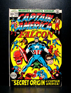COMICS-Captain-America-155-1972-origin-of-Captain-America-IV-and-Bucky-III