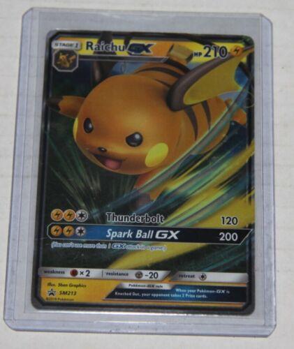Raichu GX Black Star Promo SM 213 Near Mint Pokemon Card