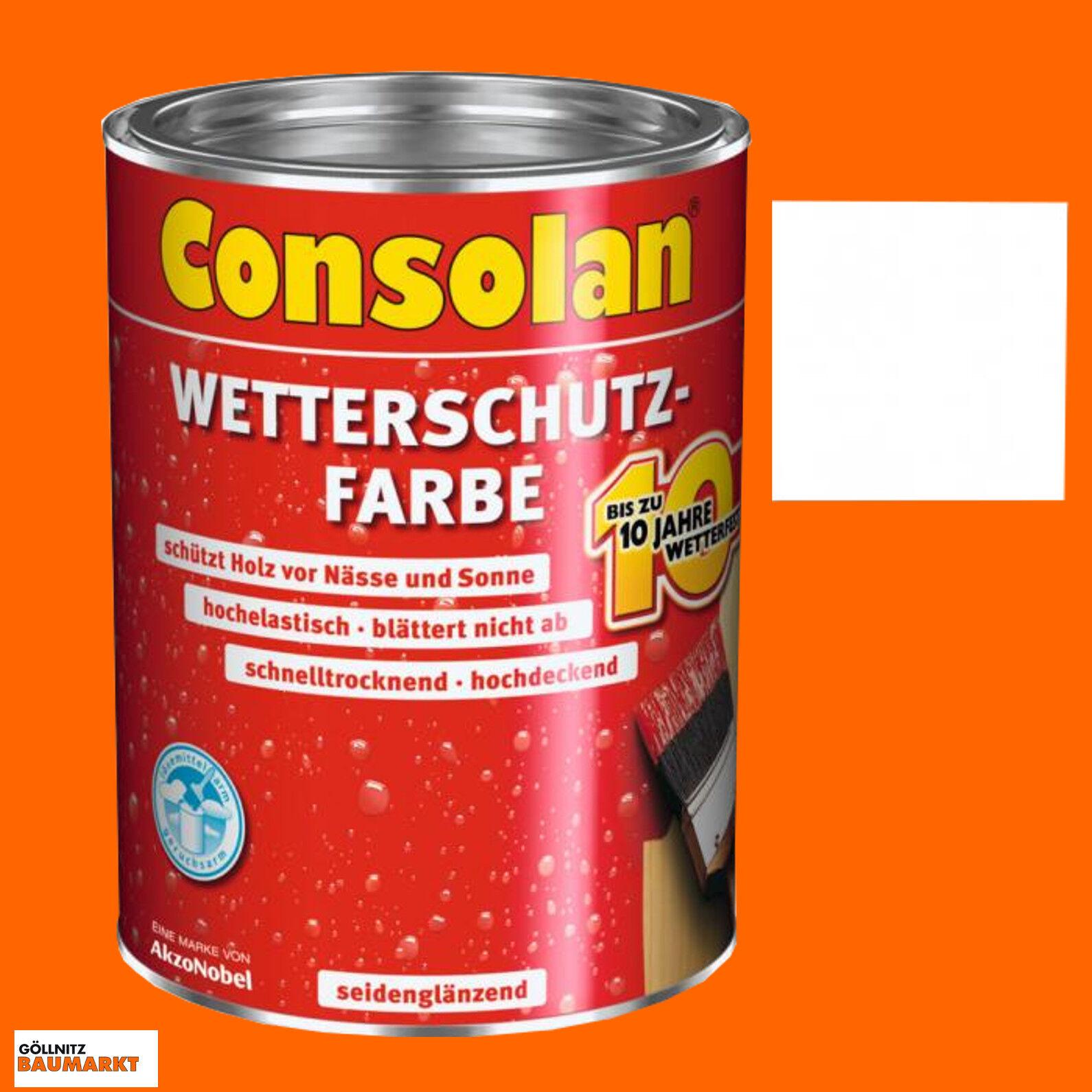 consolan wetterschutz farbe weiss 0 75 l | ebay