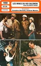 FICHE CINEMA : LES MINES DU ROI SALOMON - Kerr,Granger 1950 King Solomon's Mines