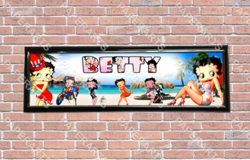 Personalized Customized Betty Boop Name Banner Wall Decor Poster with Frame