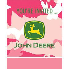 John Deere Pink 1st Birthday Party Invitations Ebay