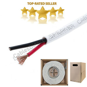 250 ft In Wall 12//2 12AWG Gauge 2 Conductor Speaker Wire Cable CL2 Bulk 250ft