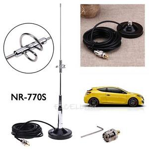 NR-770S-Antenna-Magnetic-Mount-Base-UHF-M-Cable-Connector-for-Car-Mobile-Radi