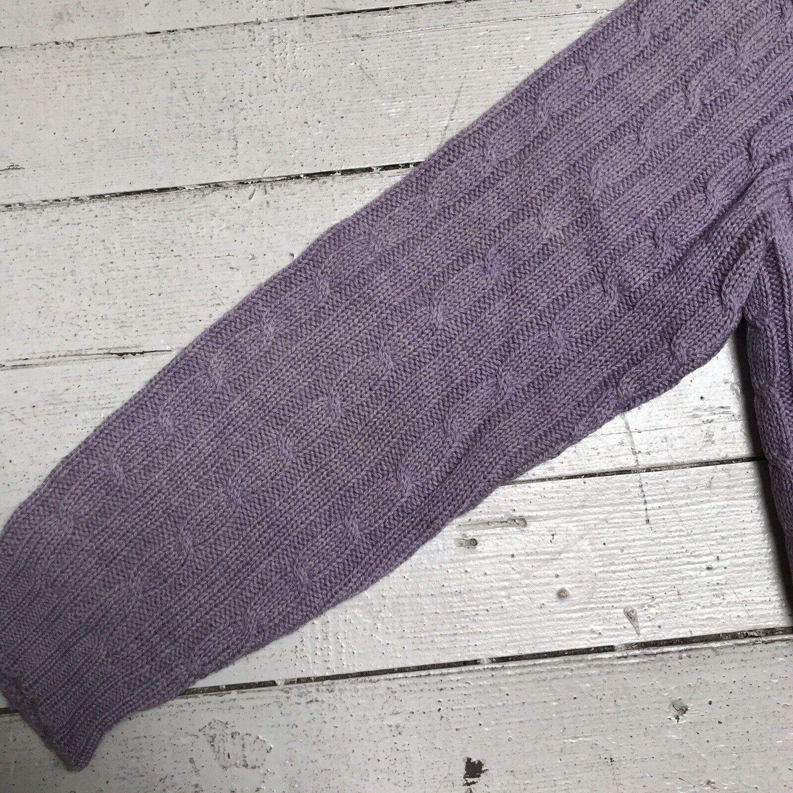 VTG EDWARD WARREN Light Purple Lilac Cable Knit S… - image 5