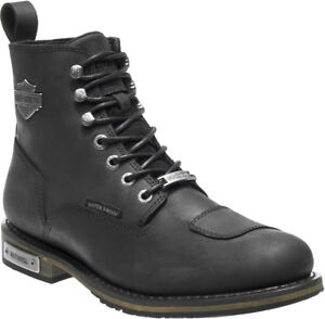 Harley-Davidson-Men-039-s-Clancy-Waterproof-Black-Leather-Motorcycle-Boots-D96159