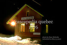 Canadian National Rwy     Cascapedia station Quebec 1976   Gaspe Peninsula x