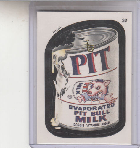 2013 TOPPS 75TH ANNIVERSARY GOLD STAMPED 1991 WACKY PACKAGES #32 PIT MILK