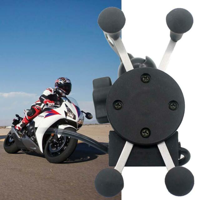 X-Grip RAM Motorcycle Bike Car Mount Cellphone Holder USB Charger For Phone Tめ