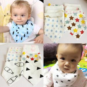 Baby Infant Boy Girl Dribble Bib Bandana Bib Feeding Saliva Towel Triangle Bib
