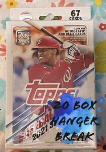 BOSTON REDSOX 2021 TOPPS SERIES 1- 20 BOX HANGER TEAM BREAK #2