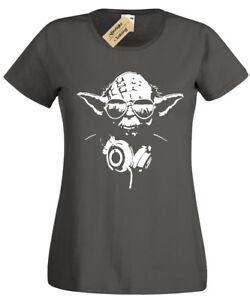 a82400de6 DJ YODA Womens T-Shirt star trooper music storm wars funny design | eBay