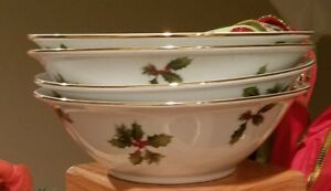 Better-Homes-amp-Gardens-HOLIDAY-2009-7-1-8-034-Coupe-Cereal-Bowls-Set-of-4