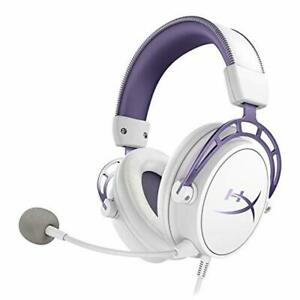 HyperX-Cloud-Alpha-Gaming-Headset-White-Purple-Limited-Edition-for-PC-PS4-amp