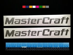 2-TWO-MASTERCRAFT-Boats-Marine-HQ-Decals-12-034-Silver-Metallic-more