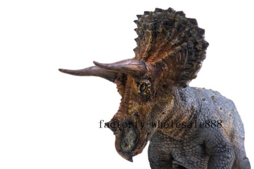 PNSO Rare Triceratop Dinosaur Model Scientific Animal Realistic Art Figure Decor