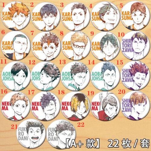 "Anime Haikyuu badges Pins Schoolbag 5.8CM cosplay 2.3/"""