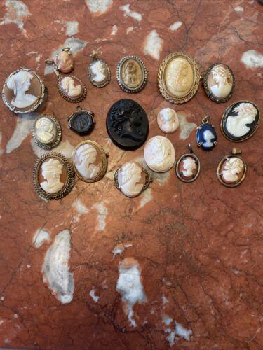 LOT DE BROCHES CAMÉE,PENDENTIF,BIJOUX,ARGENT,ANCIEN   eBay