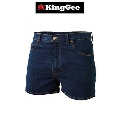 low price order online factory outlet Mens KingGee Stretch Denim Work Shorts Workwear Safety Durable ...