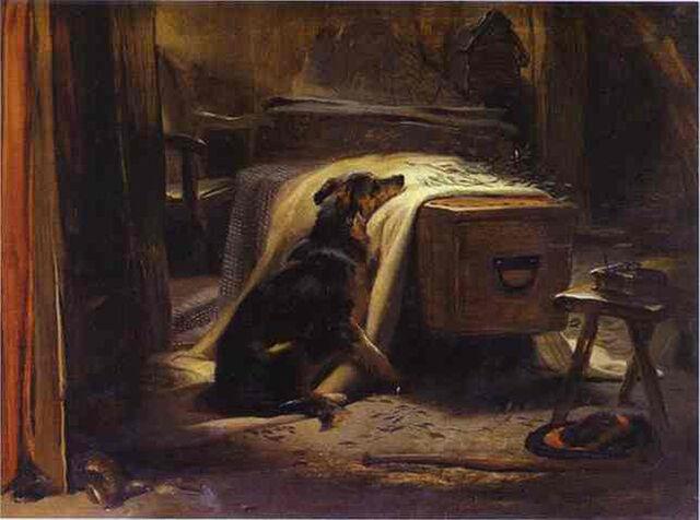 Art Photo Print - Old Shepherd'S Chief Mourner - Sir Edwin Henry Landseer 1802 1