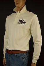 Ralph Lauren Cream Polo Shirt/Brown Big Pony Match Large NWT